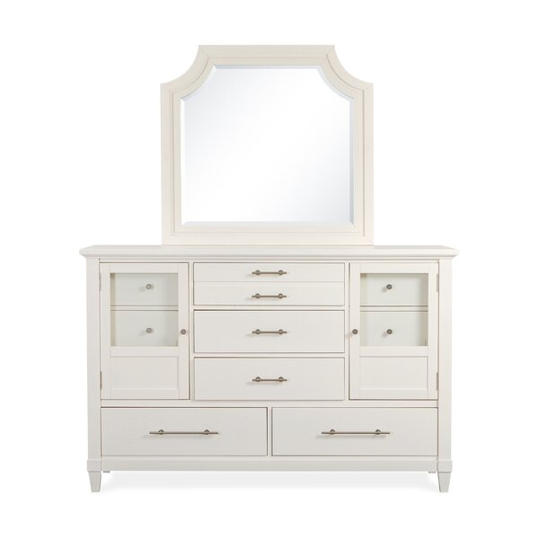 Lola Bay 5 Drawer Combo Dresser with Mirror by Magnussen Furniture Magnussen Furniture