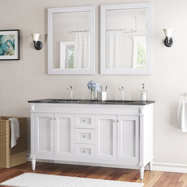 Millfield 59 Double Bathroom Vanity Set with Mirror by Andover Mills