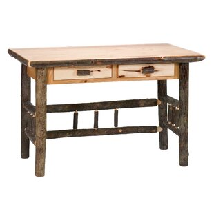 Hickory 2 Drawer Writing Desk