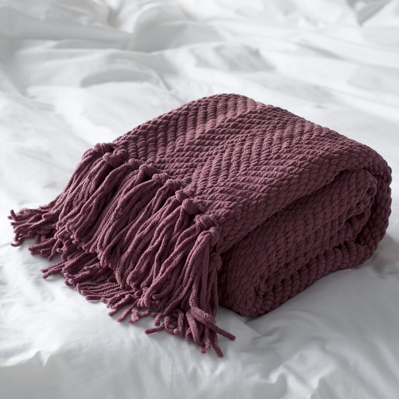 Nader Tweed Knitted Design Throw Amp Reviews Allmodern