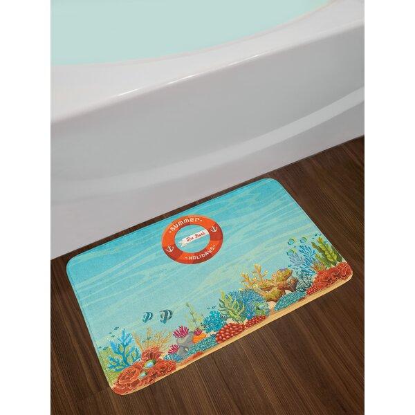 Lifebuoy Marine Bath Rug by East Urban Home
