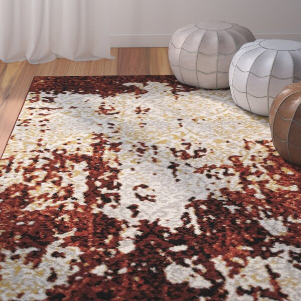Fayme Red/Cream Area Rug by World Menagerie