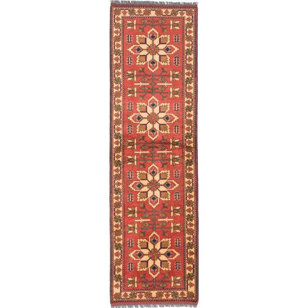 One-of-a-Kind Kargahi Hand-Knotted Brown Area Rug by ECARPETGALLERY