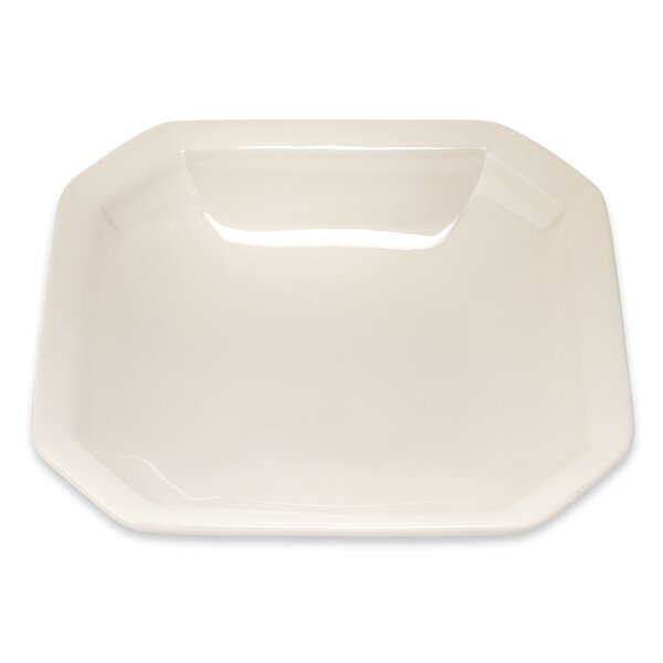 White Octagonal Platter by Lorren Home Trends
