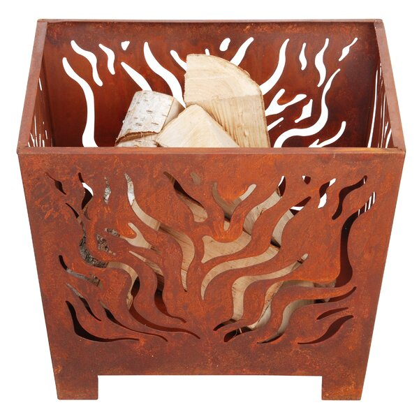 Hoye Laser Cut Steel Wood Burning Fire Pit By Millwood Pines