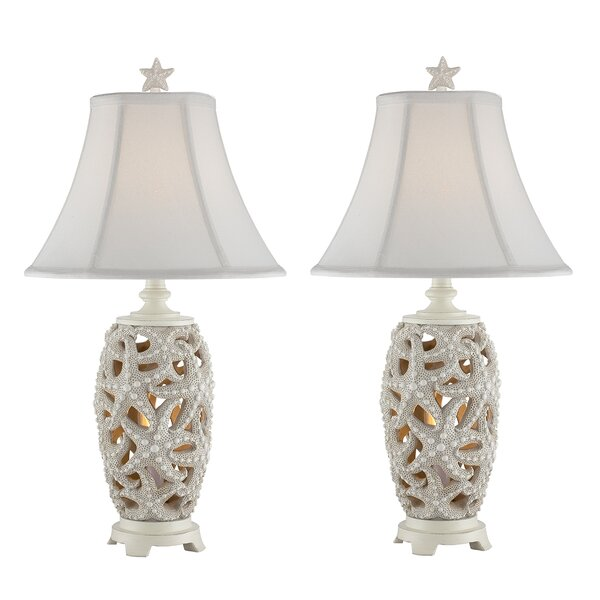 Malachy Starfish Table Lamp (Set of 2) by Highland Dunes