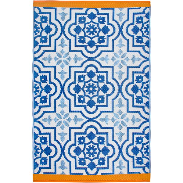 Estate Blue Indoor/Outdoor Area Rug by Fab Habitat