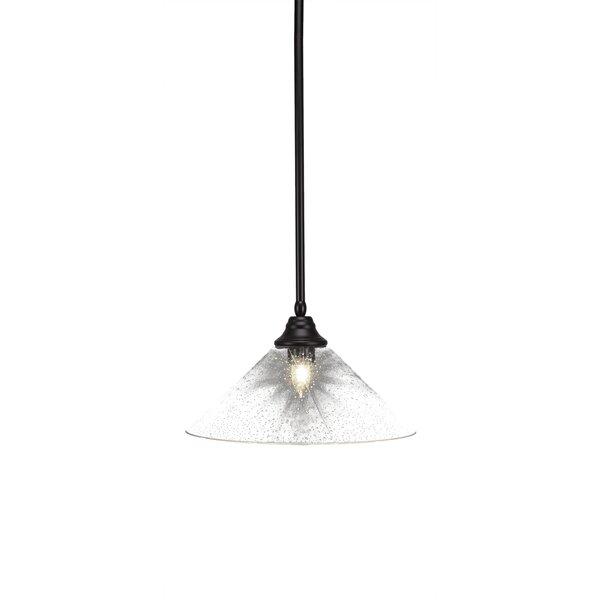 Loughlin 1-Light Cone Pendant by Ebern Designs