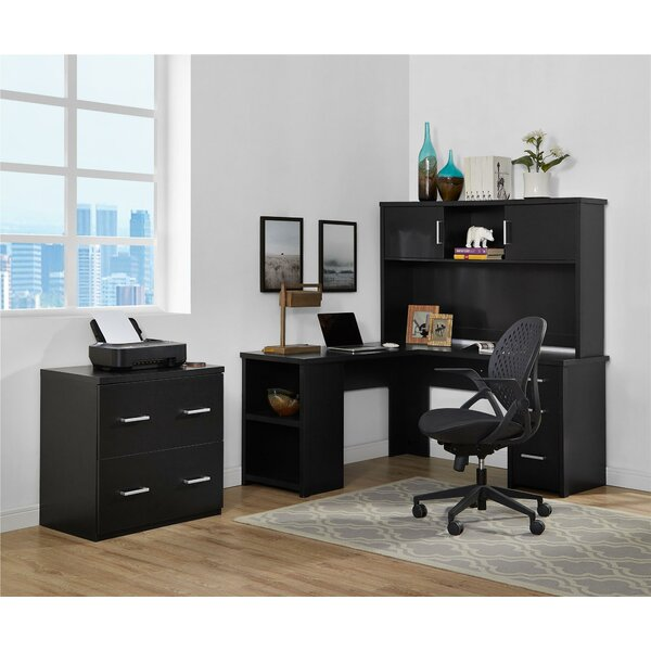 Canvey 3 Piece L-Shape Desk Office Suite by Ebern Designs