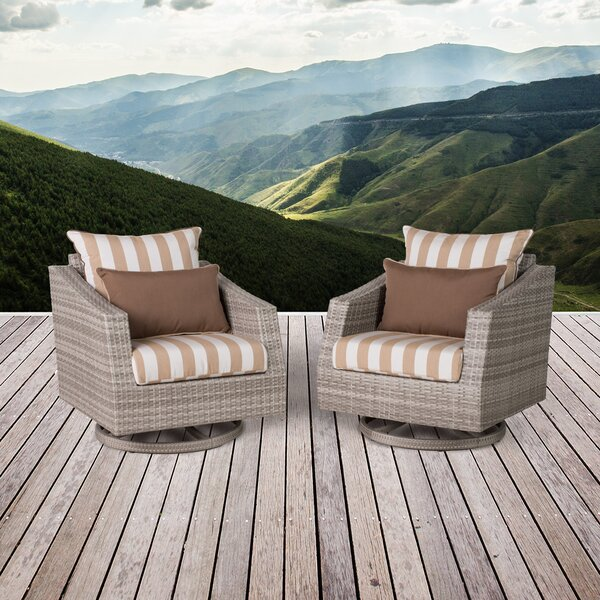Greenfield Patio Chair with Cushion (Set of 2) by Wade Logan