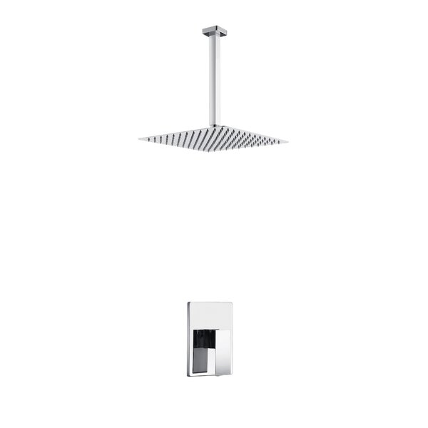 Aqua Piazza Volume Complete Shower System With Rough-in Valve By Kube Bath