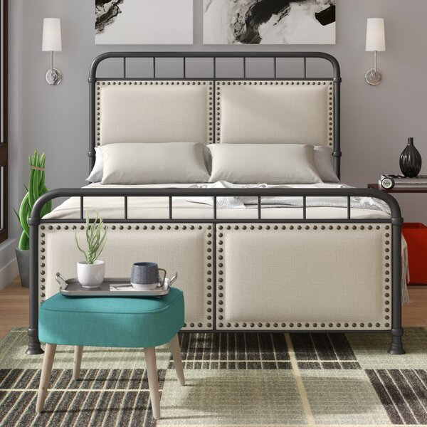 Peachey Queen Upholstered Standard Bed by Wrought Studio