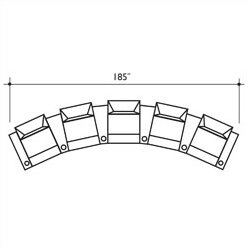 Signature Series St. Tropez Home Theater Row Seating (Row Of 5) By Bass