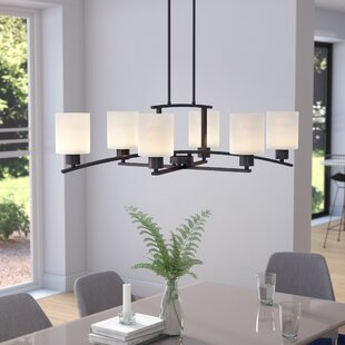 Reviews Buie 6-Light Shaded Chandelier By Latitude Run