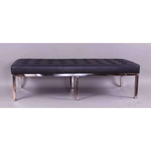 Rothman Leather Bench by dCOR design