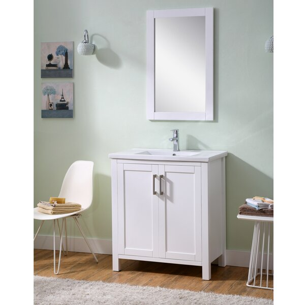 Hodgeman 30 Single Vanity Set with Mirror by Latitude Run