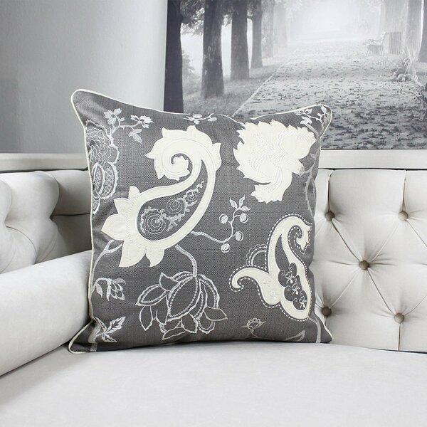 Fairhills Applique Floral Indoor/Outdoor Throw Pillow by Canora Grey