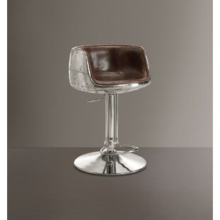 Lema Comfy Adjustable Height Swivel Bar Stool by 17 Stories