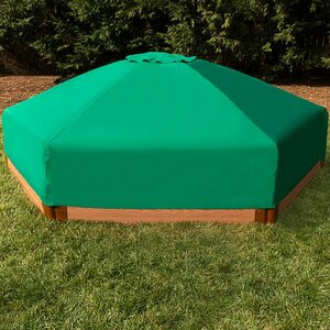 Composite 7 ft. Hexagon Sandbox with Cover