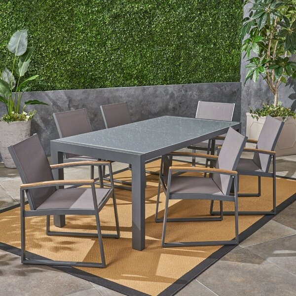 Bolebroke Outdoor 7 Piece Dining Set by Ivy Bronx