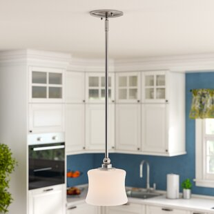 Affordable Price Ellerman 1-Light Drum Pendant By Charlton Home