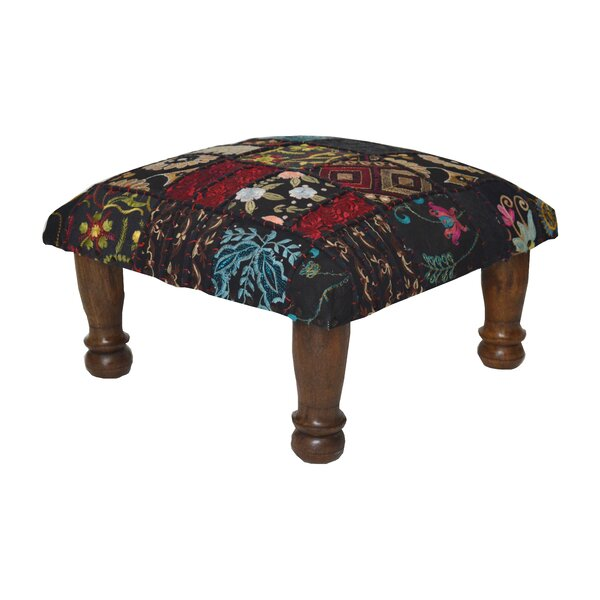 Patchwork and Embroidered Ottoman by Divine Home
