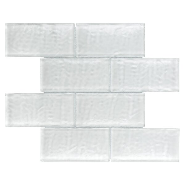 Nieve 2.88 x 5.88 Glass Mosaic Tile in Glacier White by EliteTile