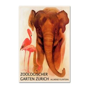 'The Zoo 1' Vintage Advertisement on Wrapped Canvas by Trademark Fine Art