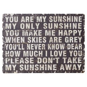 wendell you are my sunshine textual art - You Are My Sunshine Frame