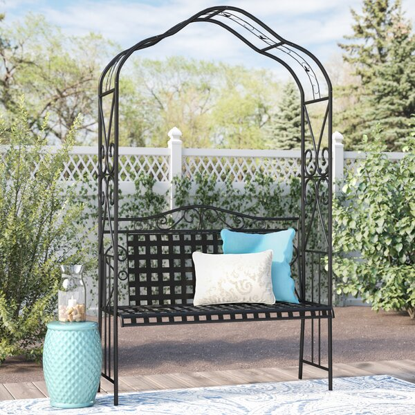 Clarence Iron Garden Bench by Darby Home Co Darby Home Co