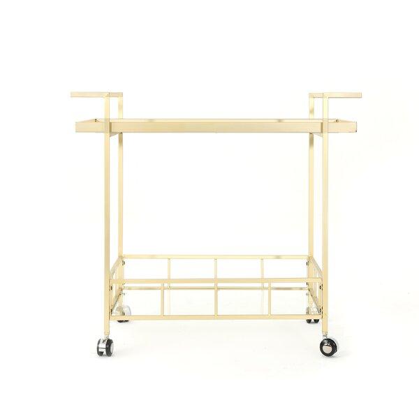 Efird Outdoor Modern Bar Serving Cart by Orren Ellis