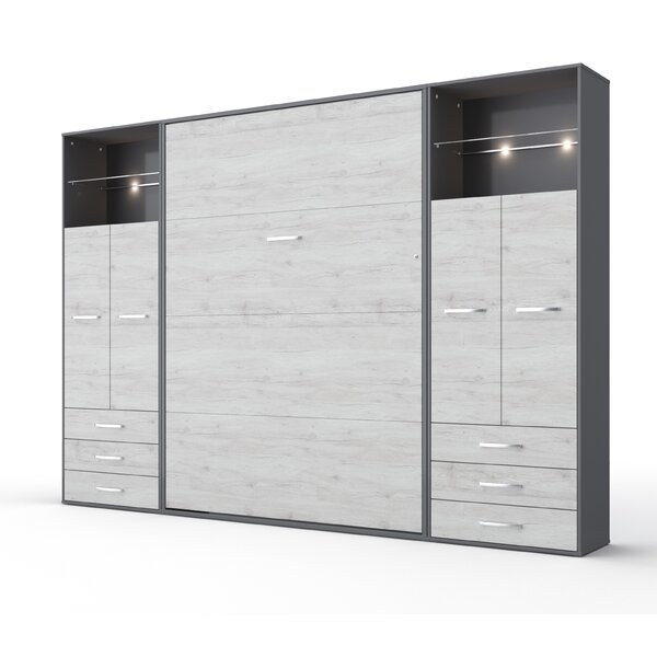 Newark Vertical King Storage Murphy Bed with Mattress by Orren Ellis