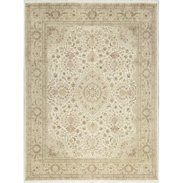 One-of-a-Kind Hand-Knotted Wool Ivory/Beige Area Rug by Bokara Rug Co., Inc.