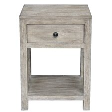 Florence Reclaimed Wood End Table by Bungalow Rose