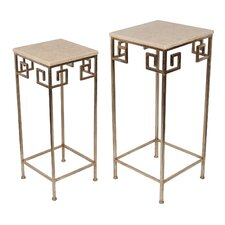 Guillelmina 2 Piece Marble Nesting Tables by Willa Arlo Interiors