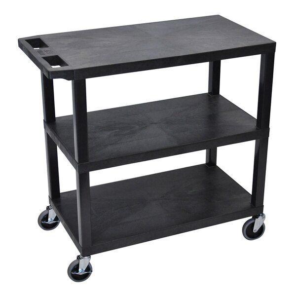 3 Flat Shelf Utility Cart by Offex