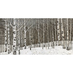 'Birch Tree Oil' by Irina K. Painting Print on Wrapped Canvas by Hobbitholeco.