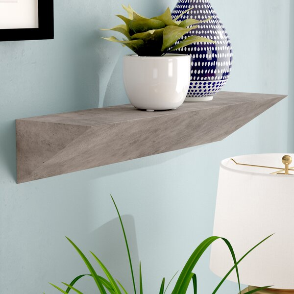 Posada Triangular Ledge Wall Shelf by Wrought Studio