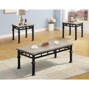 Wetzel 3 Piece Coffee Table Set Gracie Oaks Best