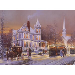 Christmas in the City by Keith Brown Painting Print on Wrapped Canvas by Hadley House Co