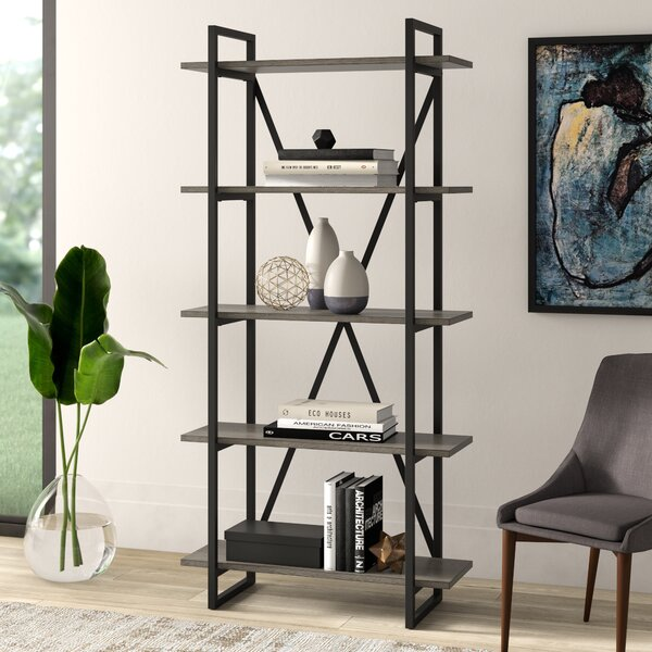 Keeble Metal Etagere Bookcase By Mercury Row