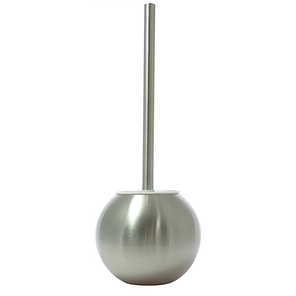 Stainless Steel Round Free Standing Toilet Brush and Holder by Sweet Home CollectionStainless Steel Round Free Standing Toilet Brush and Holder by Sweet Home Collection