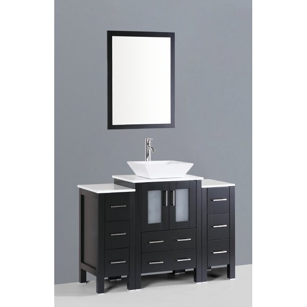 Netto 48 Single Bathroom Vanity Set with Mirror by Ebern Designs