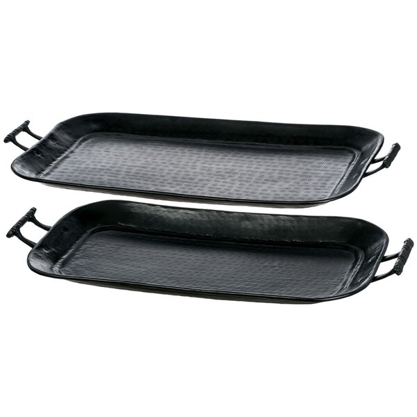 Avenal Metal Serving Tray (Set of 2) by Bloomsbury Market