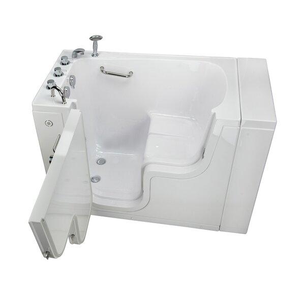 Transfer L Shape Wheelchair Accessible Soaking Heated Seat 52 x 30 Walk-in Combination Bathtub by Ella Walk In Baths