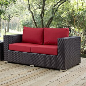 Anika Patio Loveseat With Cushions