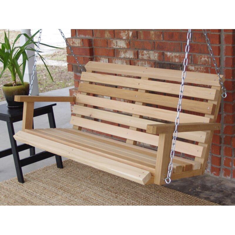 Millwood Pines Frankie Cabin Style Porch Swing Wayfair