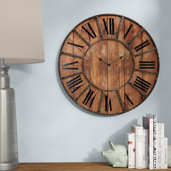 Oversized Meriwether 24 Quot Metal Wall Clock Amp Reviews
