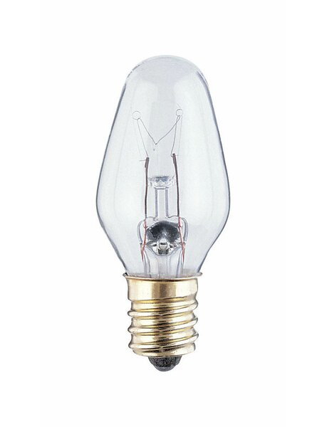7W E12 Dimmable Incandescent Edison Candle Light Bulb by Westinghouse Lighting