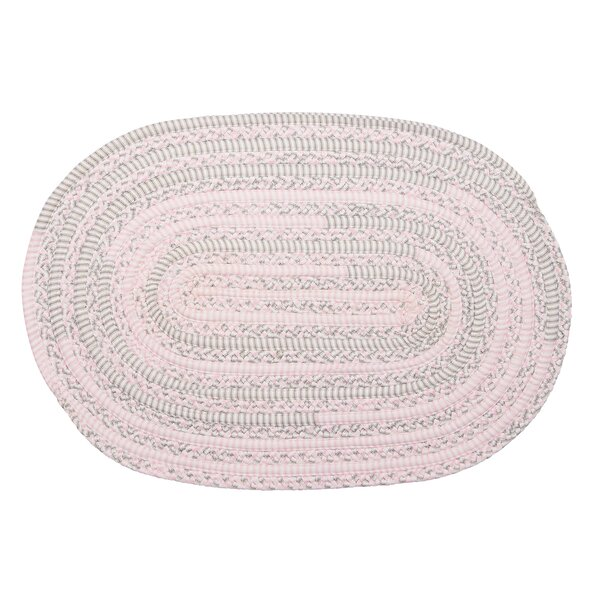 Banneker Hand-Braided Pink/Gray Area Rug by Harriet Bee